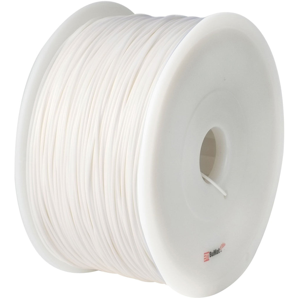 BuMat 1.75mm PLA Filament Cartridge - White - White