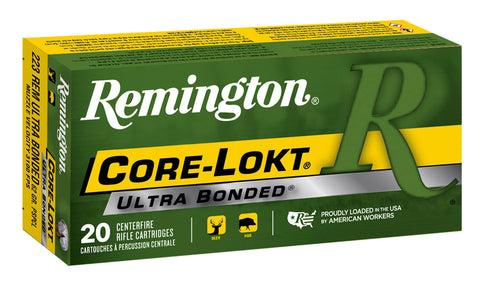 Remington Ammunition R223R8 Core-Lokt Ultra Bonded 223 Remington/5.56 NATO 62 GR Pointed Soft Point 20 Bx/ 10 Cs