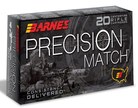Barnes Bullets 0814 Precision Match Rifle 6mm Creedmoor 112 GR OTM Boat Tail 20 Bx/ 10 Cs