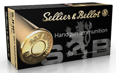 Magtech SB357C  Pistol & Revolver Cartridges  357 Magnum 158 GR Semi Jacketed Hollow Point 50 Bx/ 20 Cs