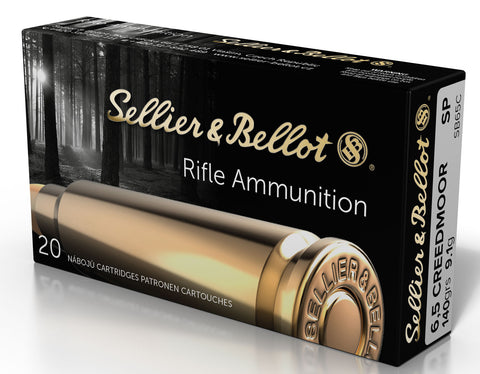 Sellier & Bellot SB65C 6.5 Creedmoor SP 6.5 Creedmoor 140 GR Soft Point 20 Bx/25 Cs
