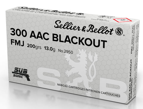 Magtech 300BLKSUBA Rifle  300 AAC Blackout/Whisper (7.62x35mm) 200 GR Full Metal Jacket Subsonic 50 Bx/ 20 Cs
