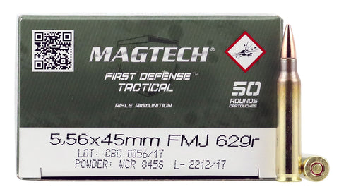 Magtech 556B Rifle  5.56 NATO 62 GR Full Metal Jacket 50 Bx/ 20 Cs