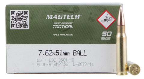 Magtech 762A Rifle  308 Winchester (7.62 NATO) 147 GR Full Metal Jacket 50 Bx/ 8 Cs