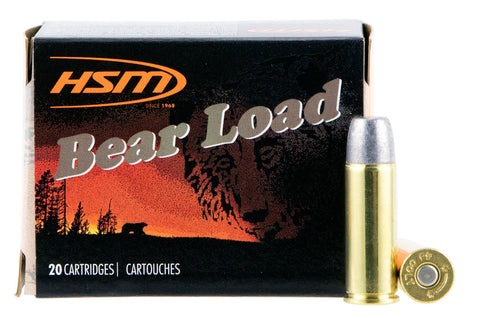 HSM 45C7N20 Bear Load  45 Colt (LC) 325 GR Wide Flat Nose 20 Bx/ 20 Cs