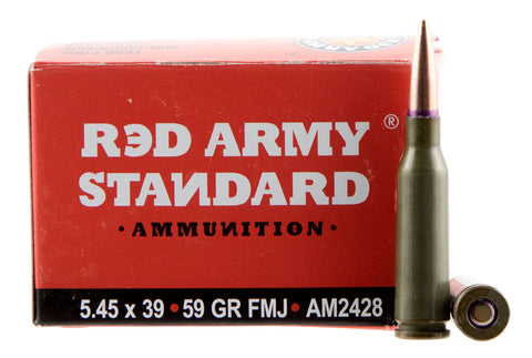 Red Army Standard AM2428 Red Army Standard  5.45x39mm 59 GR Full Metal Jacket Boat Tail 20 Bx/ 50 Cs