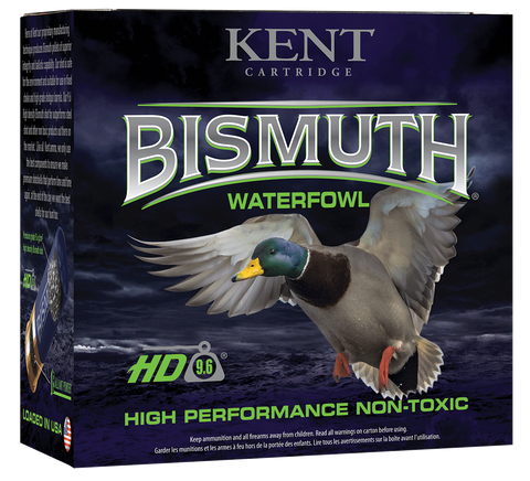 "Kent Cartridge B123W404 Bismuth High Performance Waterfowl 12 Gauge 3"" 1-3/8 oz 4 Shot 25 Bx/ 250 Cs"