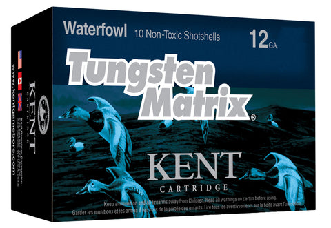 "Kent Cartridge C123NT423 Tungsten Matrix Waterfowl 12 Gauge 3"" 1-1/2 oz 3 Shot 10 Bx/ 10 Cs"