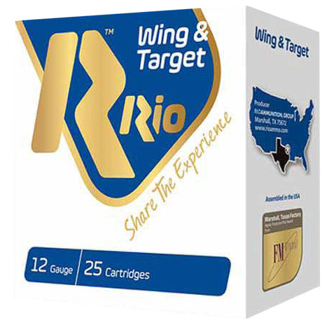 "RIO AMMUNITION WT2875 Wing & Target 12 Gauge 2.75"" 1 oz 7.5 Shot 25 Bx/ 10 Cs"