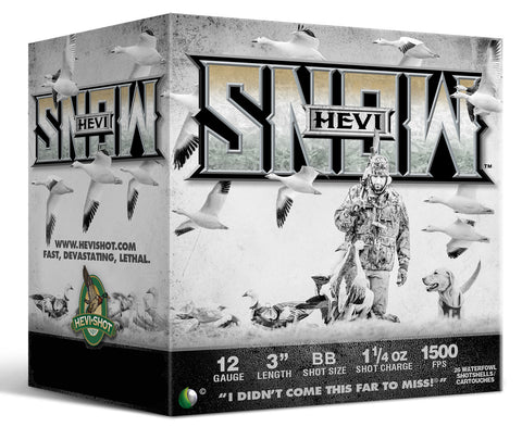 "Hevishot 20088 Hevi-Snow Waterfowl  12 Gauge 3"" 1-1/4 oz BB Shot 25 Bx/ 10 Cs"