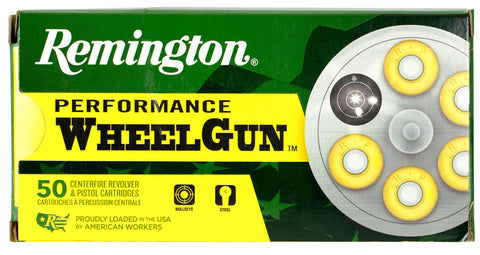 Remington Ammunition RPW357M5 Performance WheelGun   357 Magnum 158 GR Lead Semi-Wadcutter 50 Bx/ 10 Cs