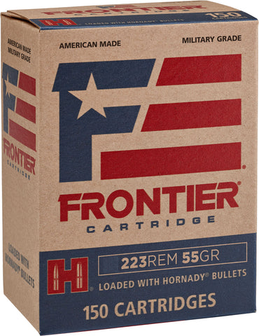 Frontier Cartridge FR1415 Frontier   223 Remington 55 GR Hollow Point Match 150 Bx/ 8 Cs - 150 Rounds