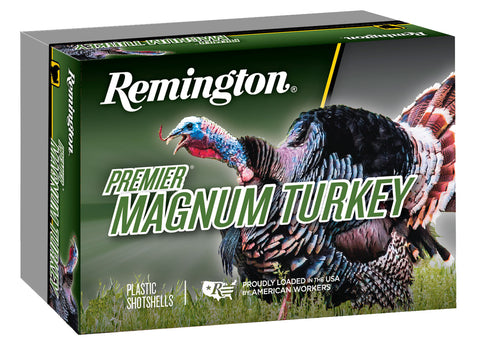 "Remington Ammunition P10HM4A Premier Magnum Copper-Plated Buffered Turkey  10 Gauge 3.5"" 2-1/4 oz 4 Shot 5 Bx/ 20 Cs"
