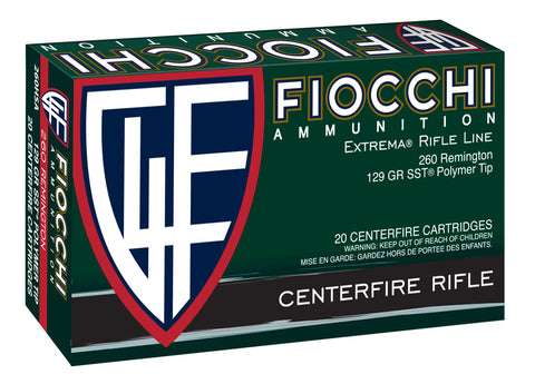 Fiocchi 260HSA    260 Remington 129 GR SST 20 Bx/ 10 Cs