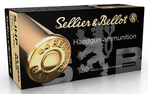 Sellier & Bellot SB44C Handgun  44 Rem Mag 240 gr Semi-Jacketed Hollow Point (SJHP) 50 Bx/ 12 Cs