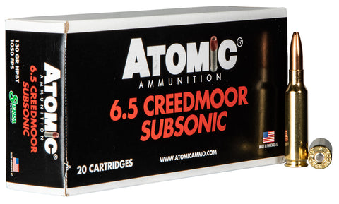 Atomic 00476 Rifle Subsonic 6.5 Creedmoor 130 gr Sierra HPBT 20 Bx/ 10 Cs