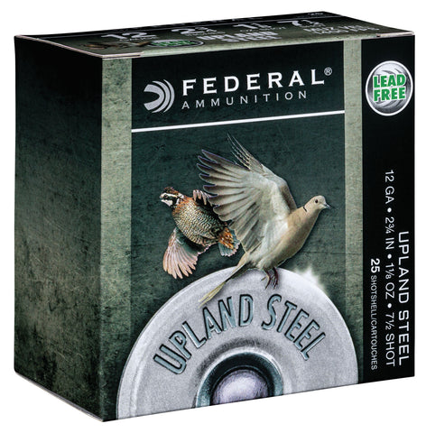 "Federal USH1275 Upland Steel 12 Gauge 2.75"" 1 1/8 oz 7.5 Shot 25 Bx/ 10 Cs"