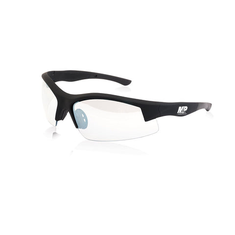 Super Cobra Half Frame Shooting Glasses Rubberized Clear