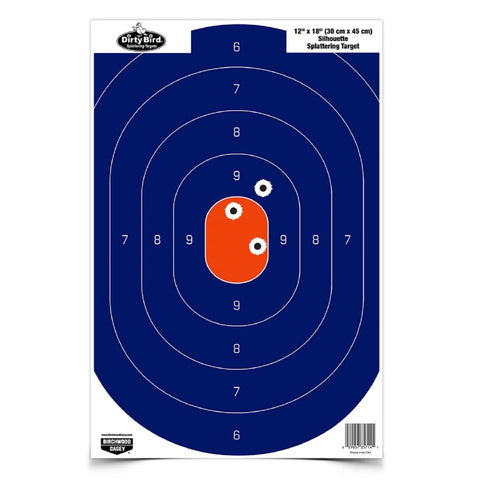 Birchwood Casey 12in x 18in Blue/Orange Silhoutte-50 Targets