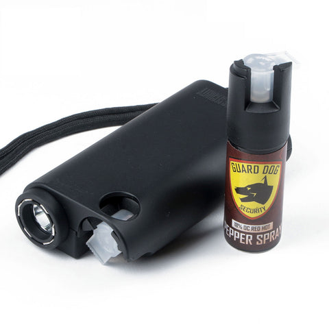 Guard Dog All-In-One Stun Gun/Flashlight/Pepper Spray -Blck