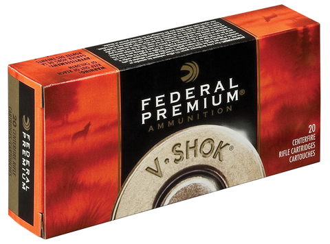 Federal P22250F V-Shok 22-250 Remington 55 GR Nosler Ballistic Tip 20 Bx/ 10 Cs