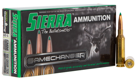 Sierra A411004 GameChanger  6mm Creedmoor 100 gr Tipped GameKing 20 Bx/ 10 Cs