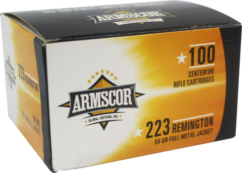 Armscor 50447 Rifle  223 Rem 55 gr Full Metal Jacket (FMJ) 100 Bx/ 12 Cs