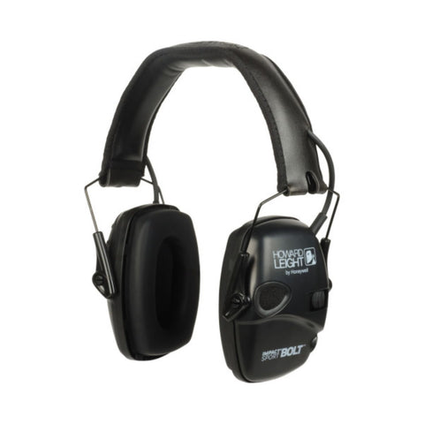 Howard Leight Impact Sport Bolt Black Electronic Earmuff