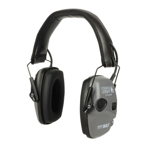 Howard Leight Impact Sport Bolt Grey Electronic Earmuff