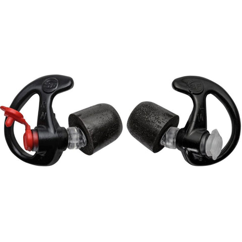 SureFire Comply Foam Tipped Filtered Earplugs Lg 25 Pair Blk