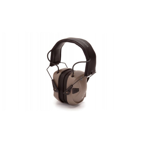 Pyramex Electronic Earmuff With Blueooth Amp BT 26 Db Tan