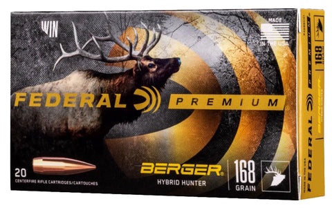 Federal P280IBCH1 Premium Berger Hybrid Hunter 280 Ackley Improved 168 gr Berger Hybrid Hunter 20 Bx/ 10 Cs