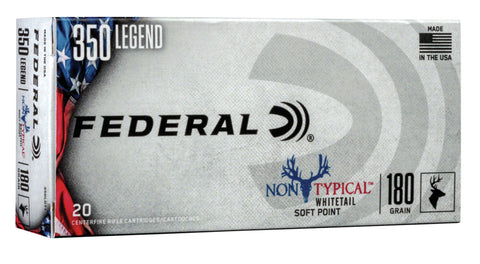 Federal 350LDT1 Non-Typical  350 Legend 180 gr Non-Typical Soft Point (SP) 20 Bx/ 10 Cs