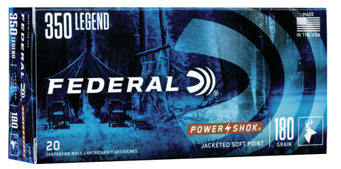 Federal 350LA Power-Shok  350 Legend 180 gr Soft Point (SP) 20 Bx/ 10 Cs