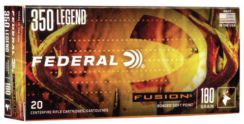 Federal F350LFS1 Fusion  350 Legend 180 gr Soft Point (SP) 20 Bx/ 10 Cs