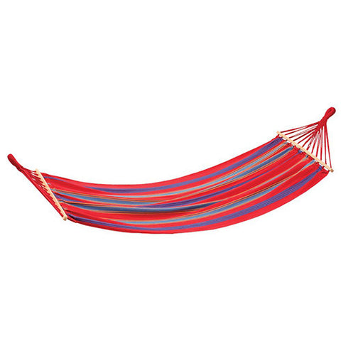 Stansport Bahamas Cotton Hammock-Single-Red-78in X 37in