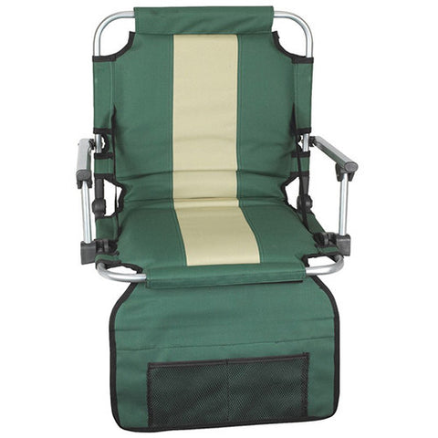 Stansport Stadium Seat With Arms - Green /Tan Stripe