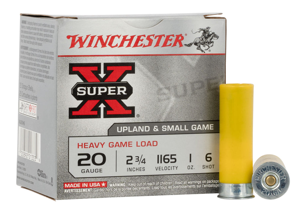 "Winchester Ammo XU20H6 Super-X Heavy Game Load 20 Gauge 2.75"" 1 oz 6 Shot 25 Bx/ 10 Cs"