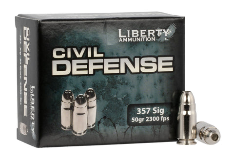 Liberty Ammunition LACD357SIG053 Civil Defense  357 Sig 357 Sig 50 gr Hollow Point (HP) 20 Bx/ 50 Cs