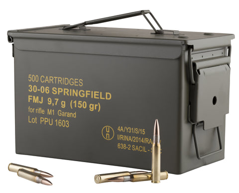 PPU PP3006GMC Standard Rifle  30-06 Springfield 150 gr Full Metal Jacket 25 Bx/ 20 Cs (500 rds Sold by case)