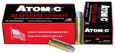 Atomic 451 Cowboy Action  38 Special 125 gr Lead Round Nose Flat Point (LRNFP) 50 Bx/ 10 Cs