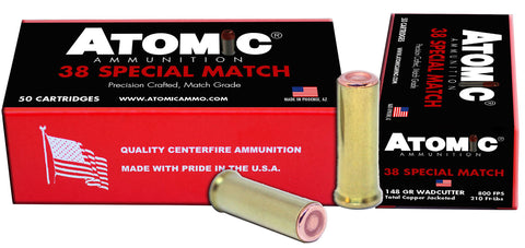 Atomic 449 Match  38 Special 148 gr Hollow Base Wadcutter 50 Bx/ 10 Cs