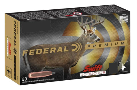 Federal P270WSMSS1 Premium  270 WSM 130 gr Swift Scirocco II 20 Bx/ 10 Cs