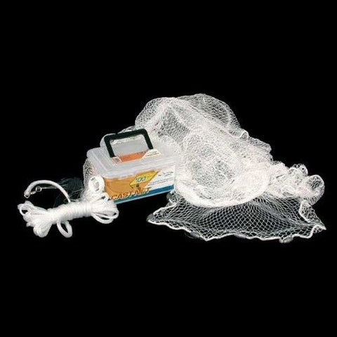 "Ahi 100 Series Cast Net 4 ft - White Nylon Net 3/8"" Mesh"