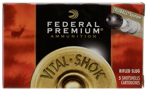 "Federal PB127RS Vital-Shok 12 Gauge 2.75"" 1 oz Slug Shot 5 Bx/ 50 Cs"