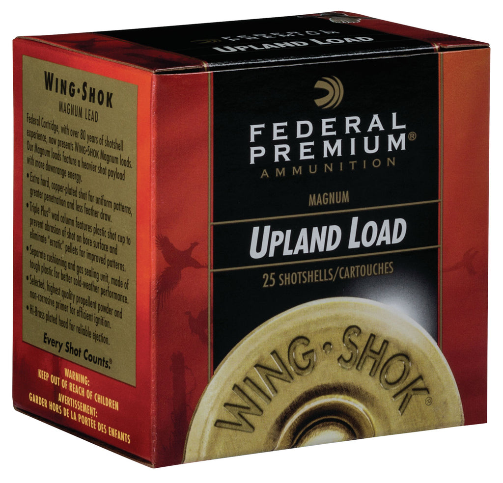 "Federal PF1544 Premium Wing-Shok High Velocity 12 Gauge 2.75"" 1 1/4 oz 4 Shot 25 Bx/ 10 Cs"