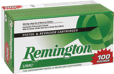 Remington Ammunition L9MM1B UMC 9mm Jacketed Hollow Point 115 GR 100Box/6Case - 100 Rounds