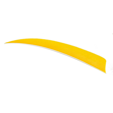 Trueflight Shield Cut Feathers Yellow 4 in. RW 100 pk.