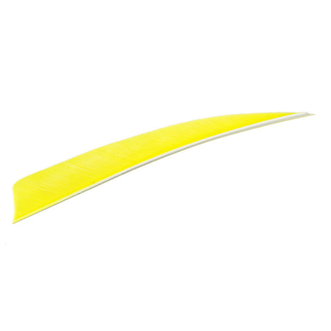 Trueflight Shield Cut Feathers Chartreuse 4 in. LW 100 pk.