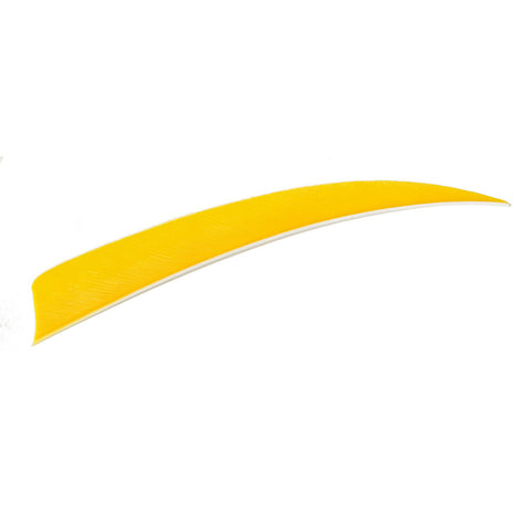 Trueflight Shield Cut Feathers Yellow 4 in. LW 100 pk.
